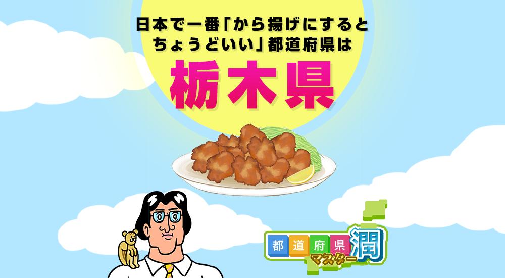 日本で一番「から揚げにするとちょうどいい」都道府県は「栃木県」に決定!?