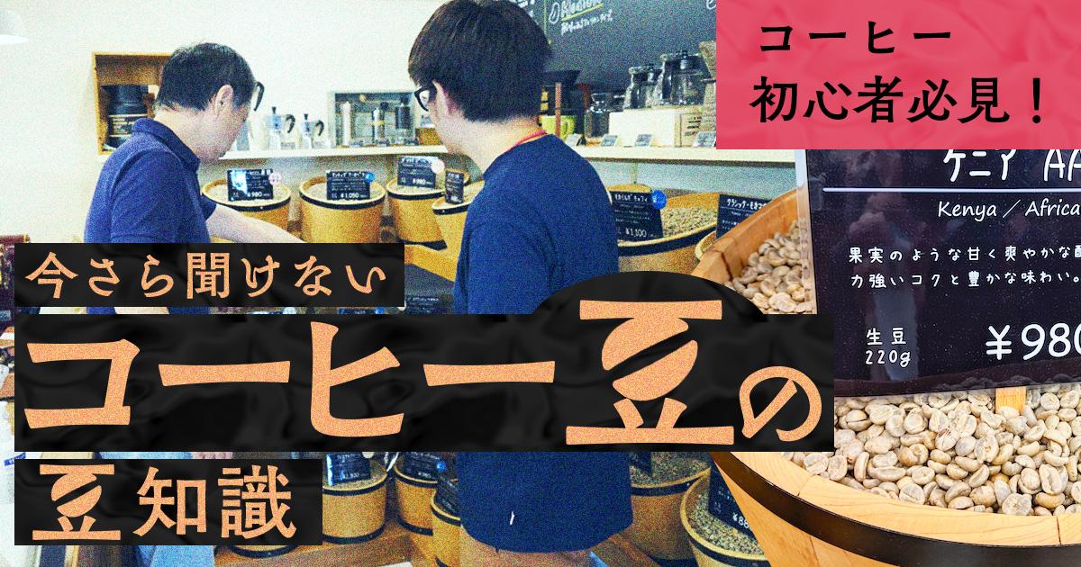 【コーヒー初心者必見!】今さら聞けないコーヒー豆の豆知識