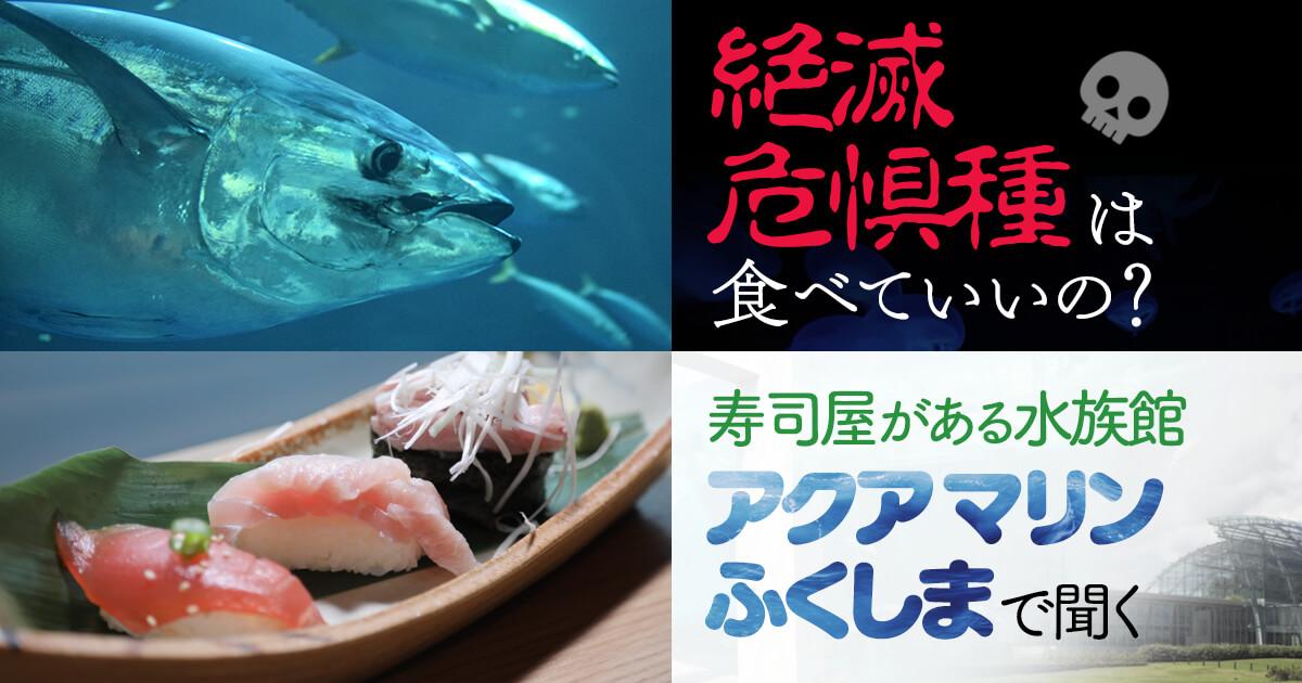 絶滅危惧種は食べていいの? 寿司屋がある水族館『アクアマリンふくしま』で聞く